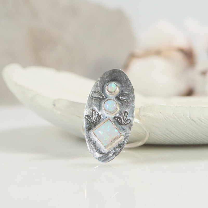 Yogini collection fire opal ring