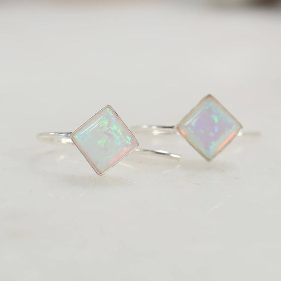 tiny earrings 6mm square