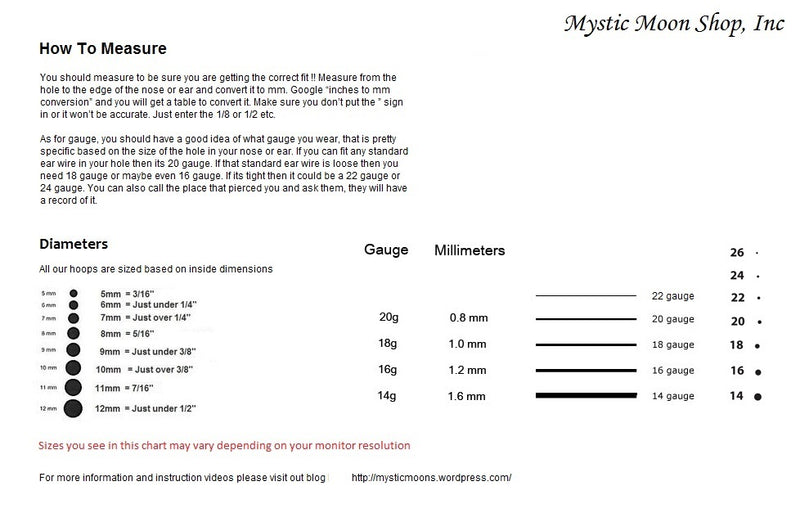information sheet for septum rings