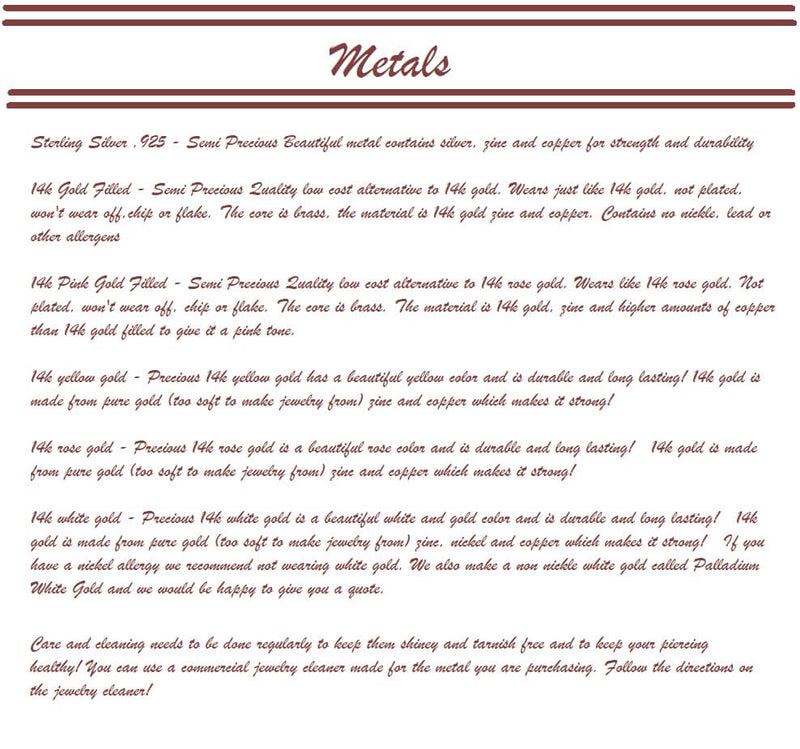 12 gauge plain endless hoop earrings metals guide
