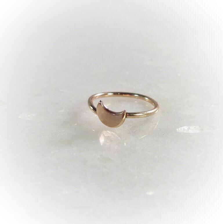 gold crescent moon nose ring