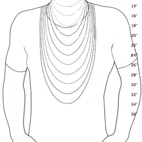 mens necklace length chart