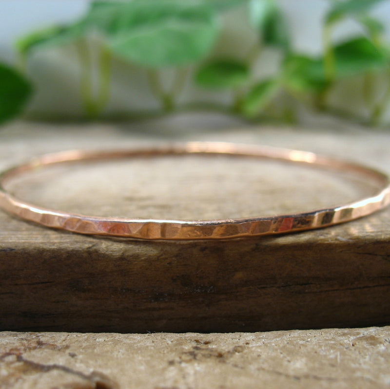 Pink Gold Bangle Bracelet Mystic Moon Shop