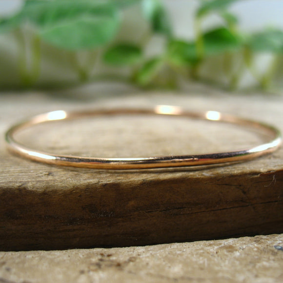 Bangle Bracelet Rose Gold Plain