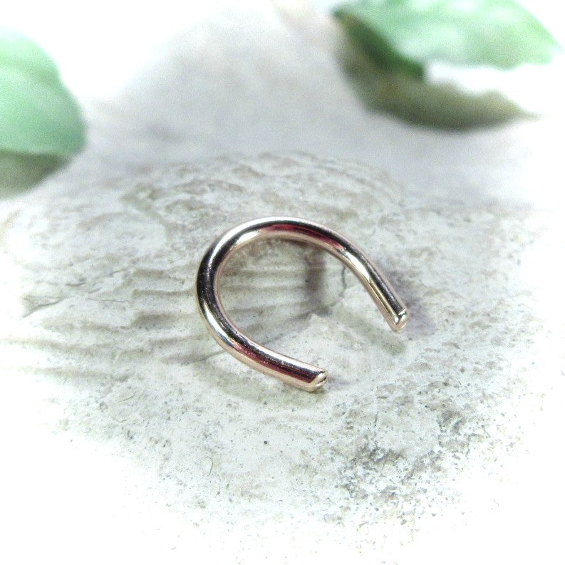 pink gold septum retainer