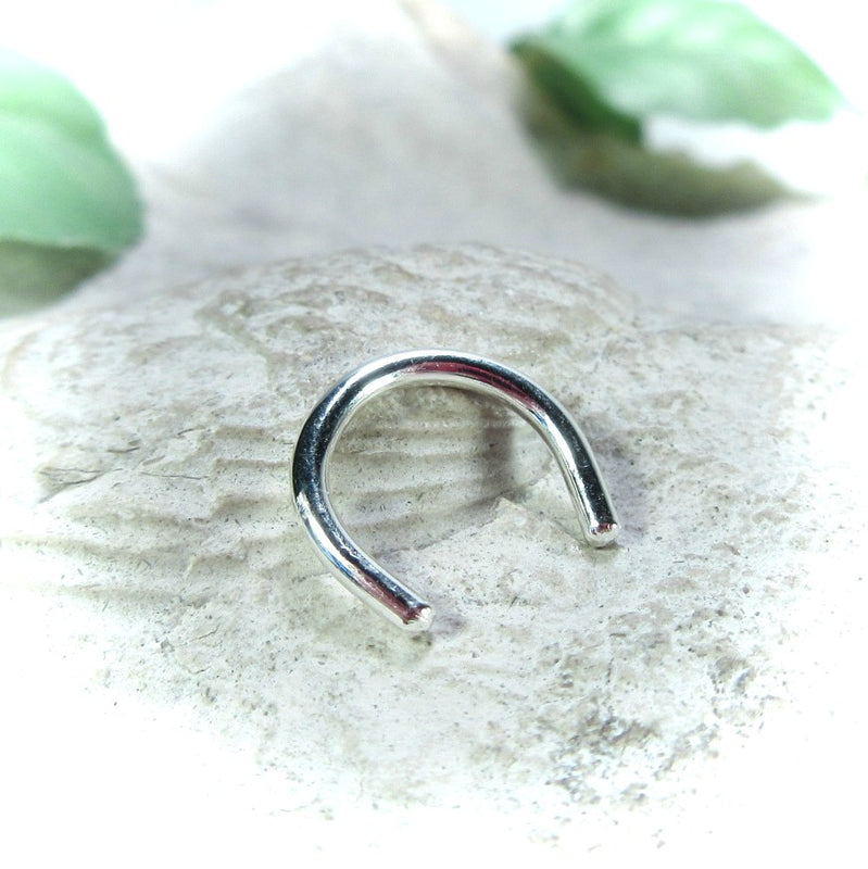 sterling silver septum retainer