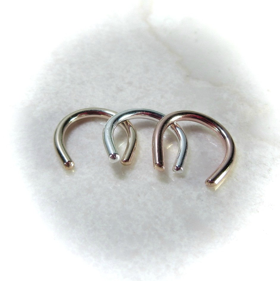Septum Retainers 18 Gauge Mixed Metals
