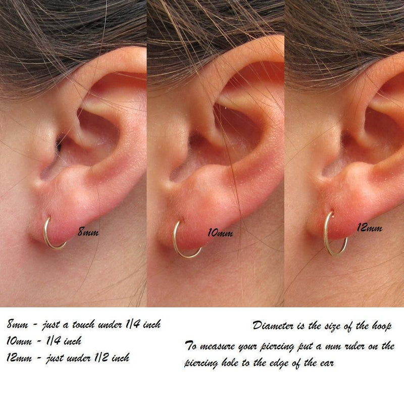 womens cartilage earrings fit guide squiggles