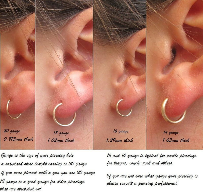 gauged endless hoops gauge chart
