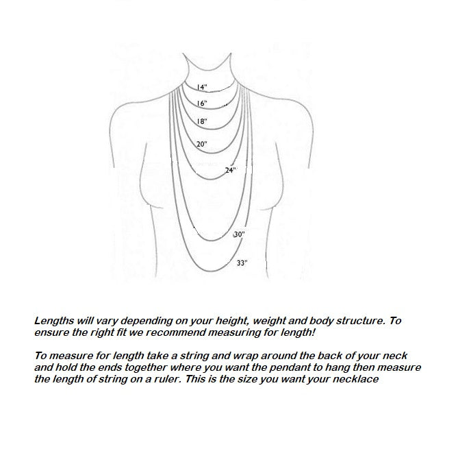 necklace length chart for labradorite necklace