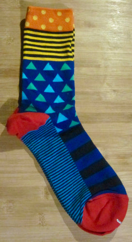Fun Patterns Cotton blend Socks -4 colour choices