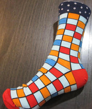 Load image into Gallery viewer, Fun Patterns Cotton blend Socks -7 colour choices