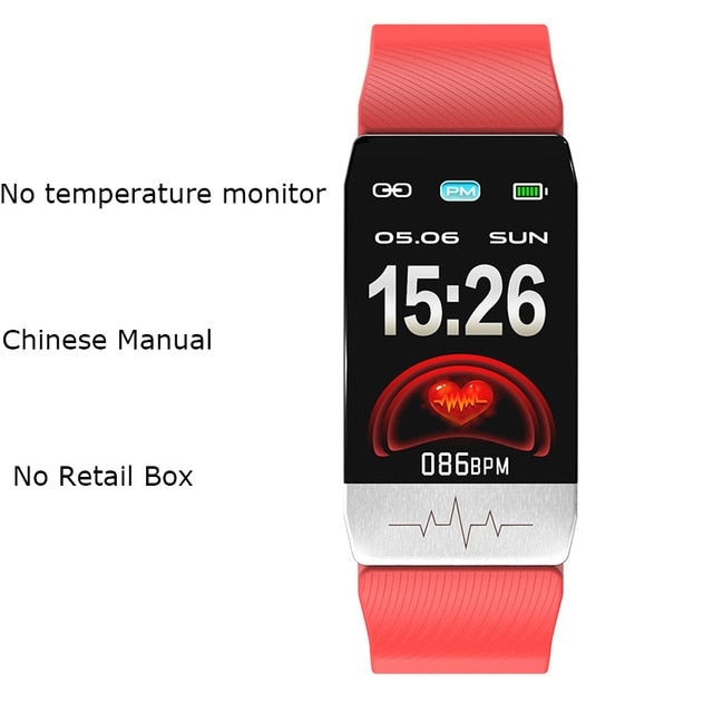 Body temperature & ECG monitor profession smart watch