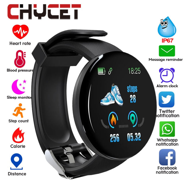 Bluetooth Smart Watch Men Blood Pressure Round Smartwatch