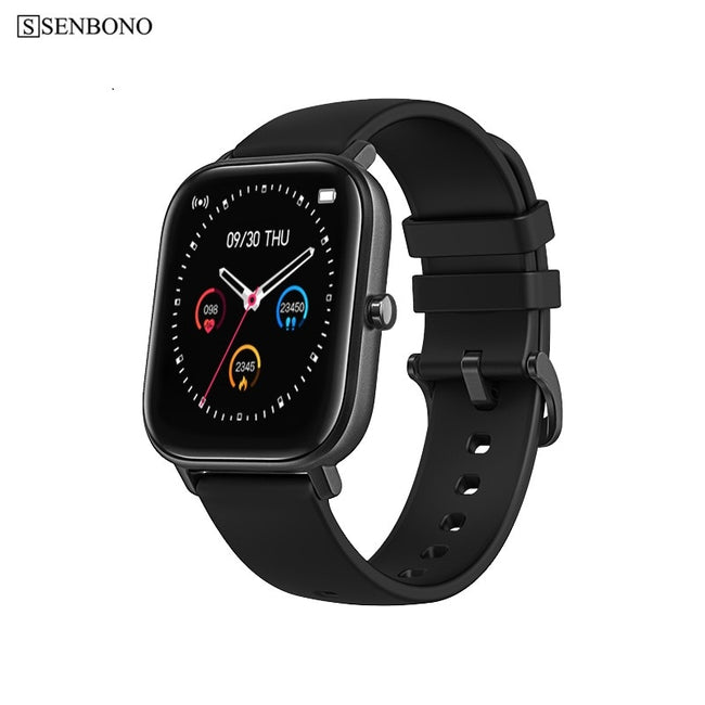 SENBONO 2020 GTS P8 Men Women Waterproof Smart Watch Clock Heart Rate Monitor Fitness Tracker Smartwatch for IOS Android