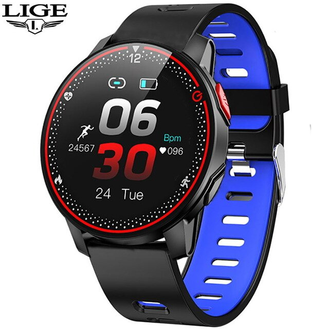 Waterproof Smart Watch Men Women Heart Rate Blood Pressure Alarm Clock