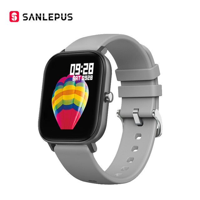 SANLEPUS Global Version Smart Watch 7 Sport Modes IP67 Waterproof Smartwatch Heart Rate Monitor Men Women Fitness Bracelet Band