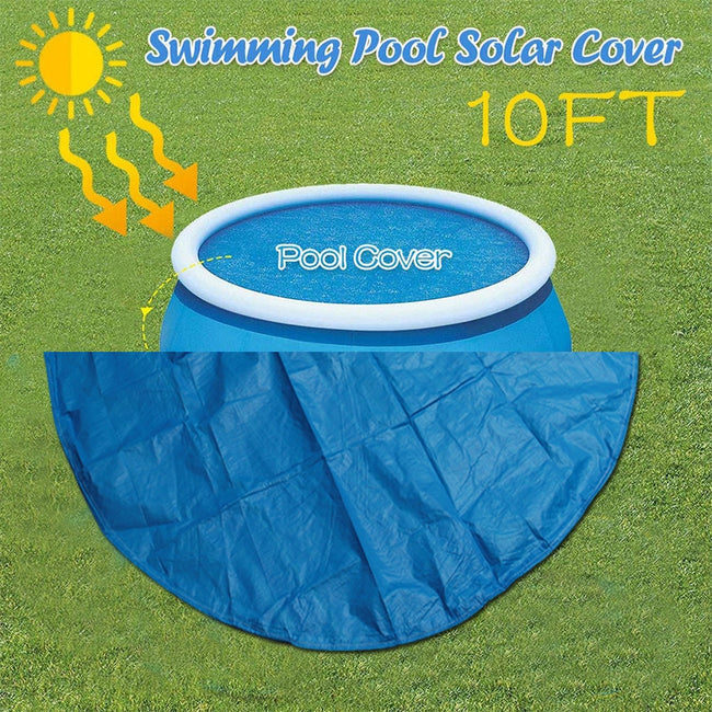 8ft 240cm Round PVC Swimming Pool Cover for INTEX Outdoor Dust Cover Round Durable Dustproof UV Resistant Cover