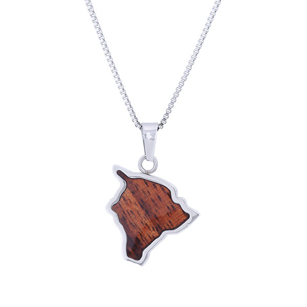 Big Island Koa Wood Hawaiian Necklace