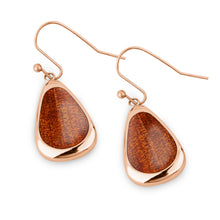 Load image into Gallery viewer, Ancient Kauri Drop Earrings - Rose Gold