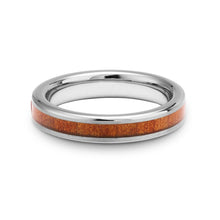 Load image into Gallery viewer, Ancient Kauri Thin Tungsten Ring - Brushed