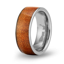Load image into Gallery viewer, Ancient Kauri Wide Tungsten Ring