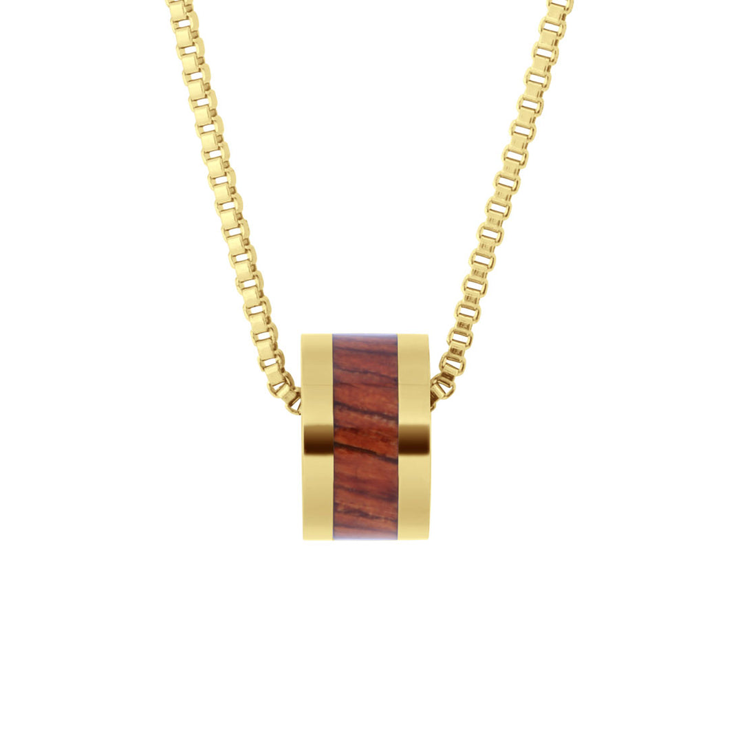 Hawaiian Koa Barrel Classic - Yellow Gold
