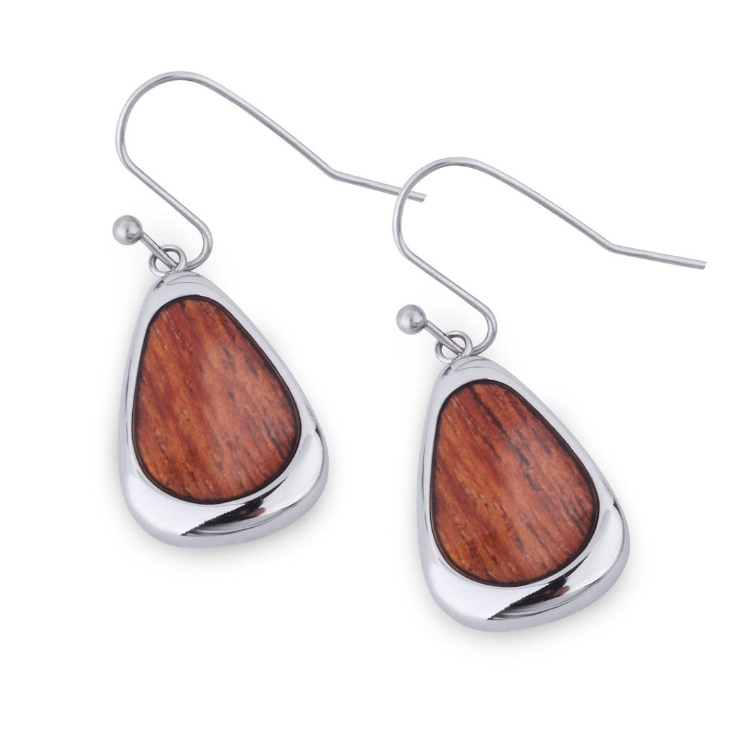 Hawaiian Koa Drop Earrings