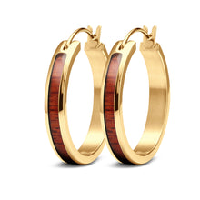 Load image into Gallery viewer, Redwood Hoop Earrings - Yellow Gold