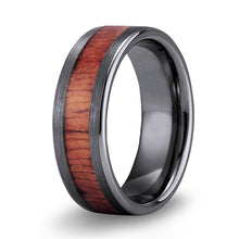 Load image into Gallery viewer, Koa Classic Tungsten Ring - Gunmetal Brushed