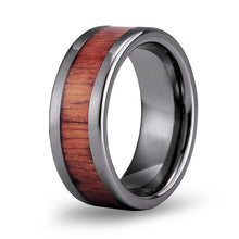 Load image into Gallery viewer, Koa Classic Tungsten Ring - Gunmetal