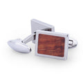 The Cufflink w/ Koa Wood Inlay