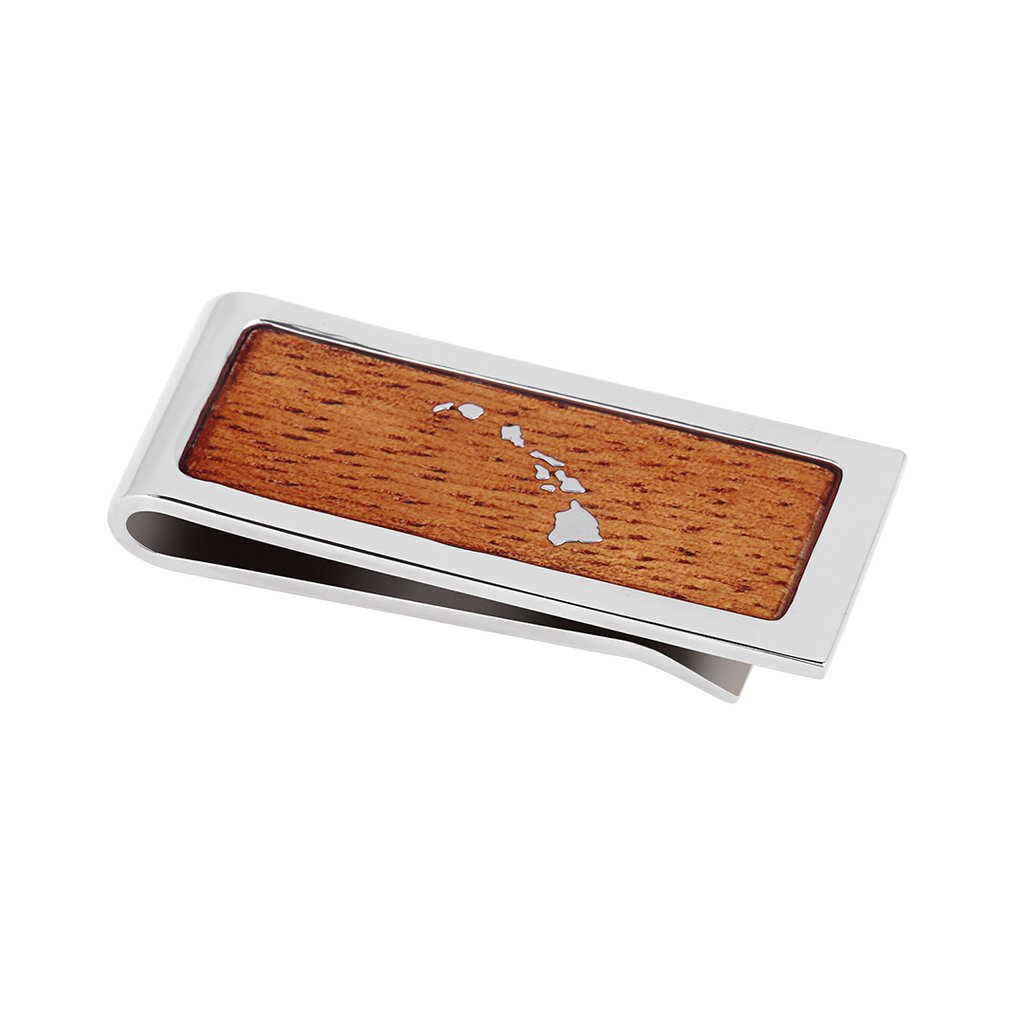 Wooden Money Clip Hawaiian Koa Wood