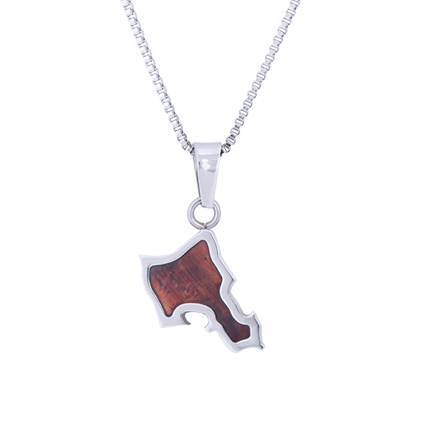 Oahu Hawaiian Necklace Koa Wood