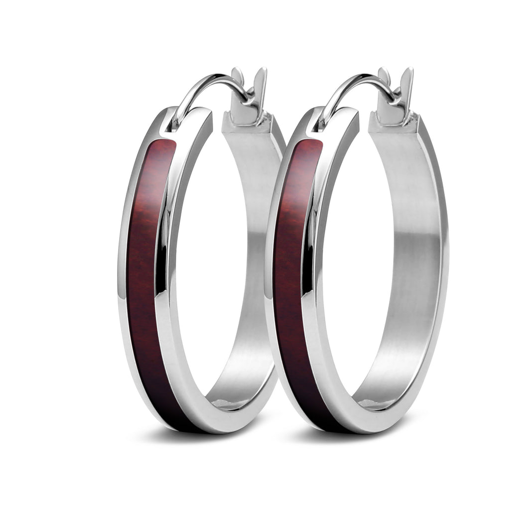 Redwood Hoop Earrings