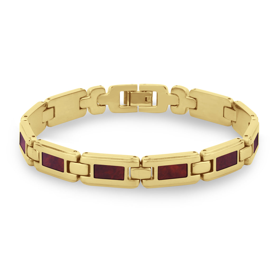 Redwood Link Bracelet - Men's Yellow Gold