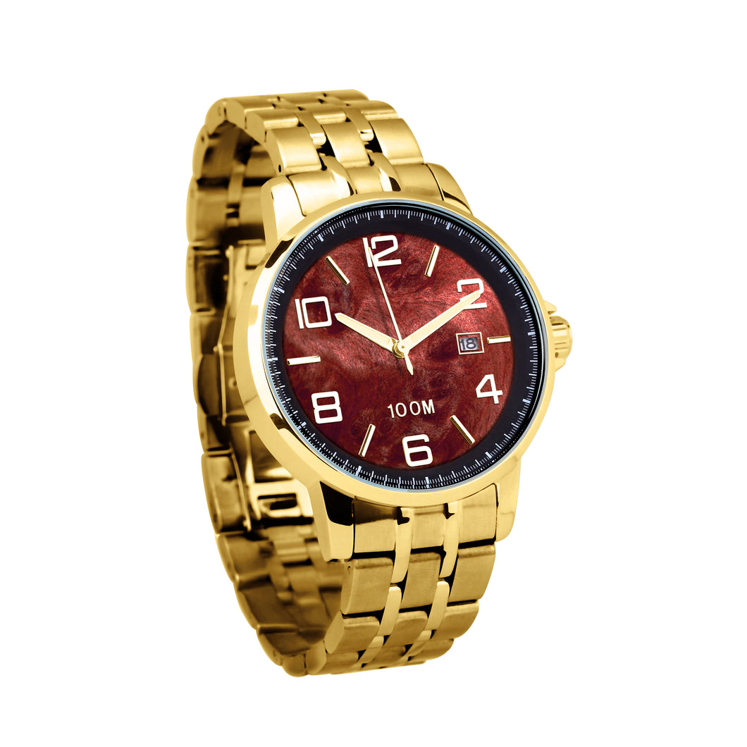 Redwood Watch Stainless Steel Band Yellow Gold - Men's