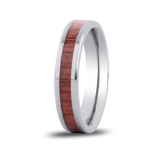 Load image into Gallery viewer, Koa Wooden Ring Hawaii Titanium Thin