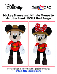 RCMP Mickey Mouse and RCMP Minnie Mouse
