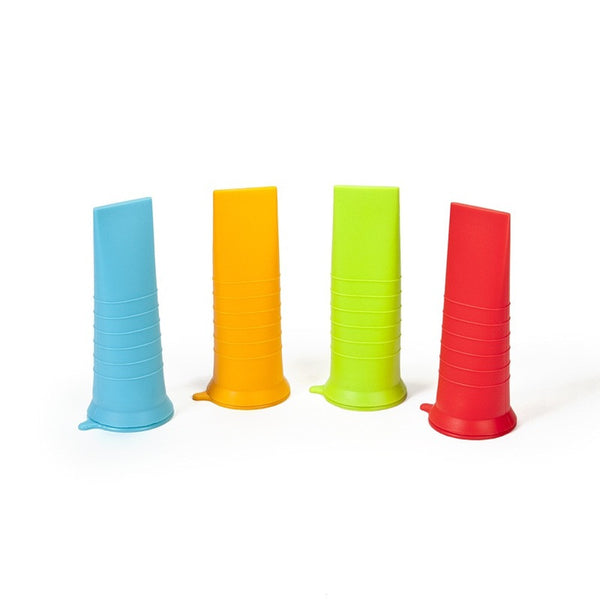 Kinderville - Little Bites Ice Pop Molds - 4 pcs red/green/blue/orange