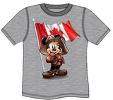 RCMP MICKEY MOUSE T-SHIRT - Heather Grey