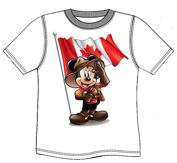 RCMP MICKEY MOUSE T-SHIRT - White