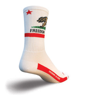 SockGuy SGX California Freedom Socks - Synaptic Cycles Shop