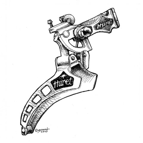 Huret Jubilee Front Derailleur-matted print - Synaptic Cycles Shop