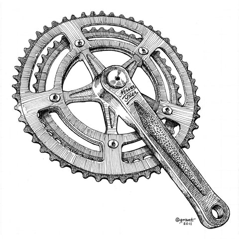 Nervar Star Crankset-matted print - Synaptic Cycles Shop