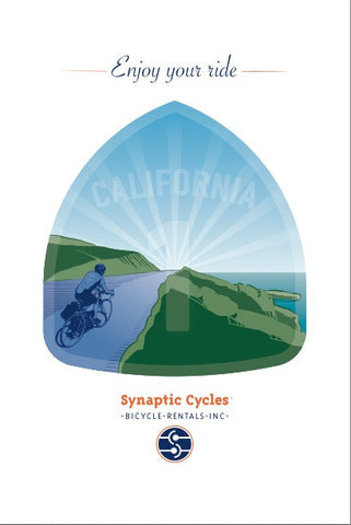 Enjoy your ride Poster - Synaptic Cycles Shop