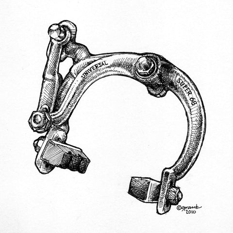 Universal Super 68 Brake Caliper-matted print - Synaptic Cycles Shop