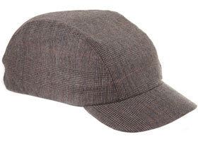 Velo/City Urban Cap - Brown Plaid Worsted Wool - Synaptic Cycles Shop