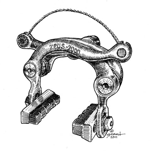 Zeus 2000 Brake Caliper-matted print - Synaptic Cycles Shop