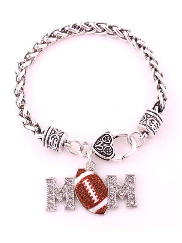instylestreet Accessories Same as photo / One Size Football Mom Alloy Diamond Bracelet